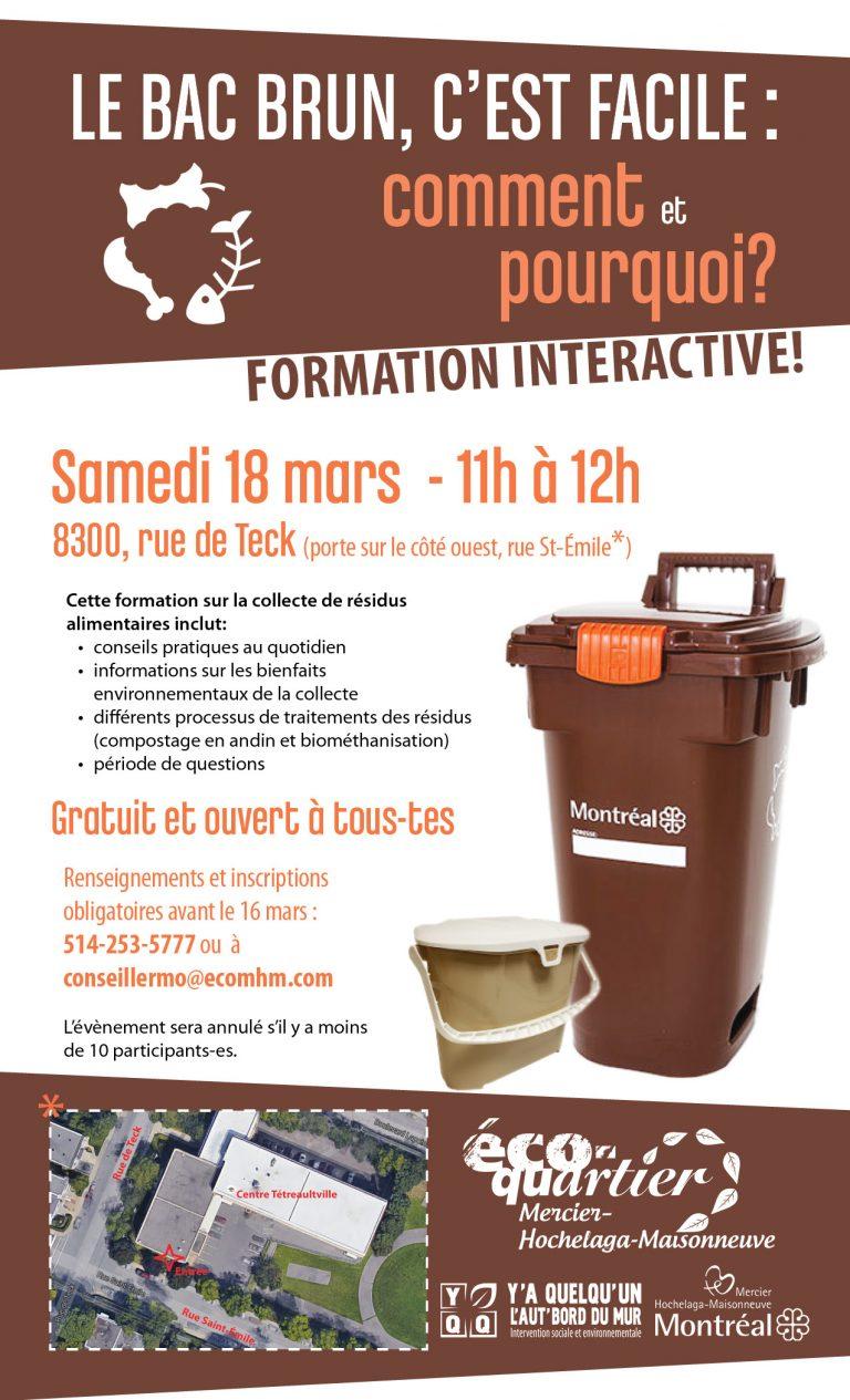 affiche pour la formation interactive sur la collecte de résidus alimentaires