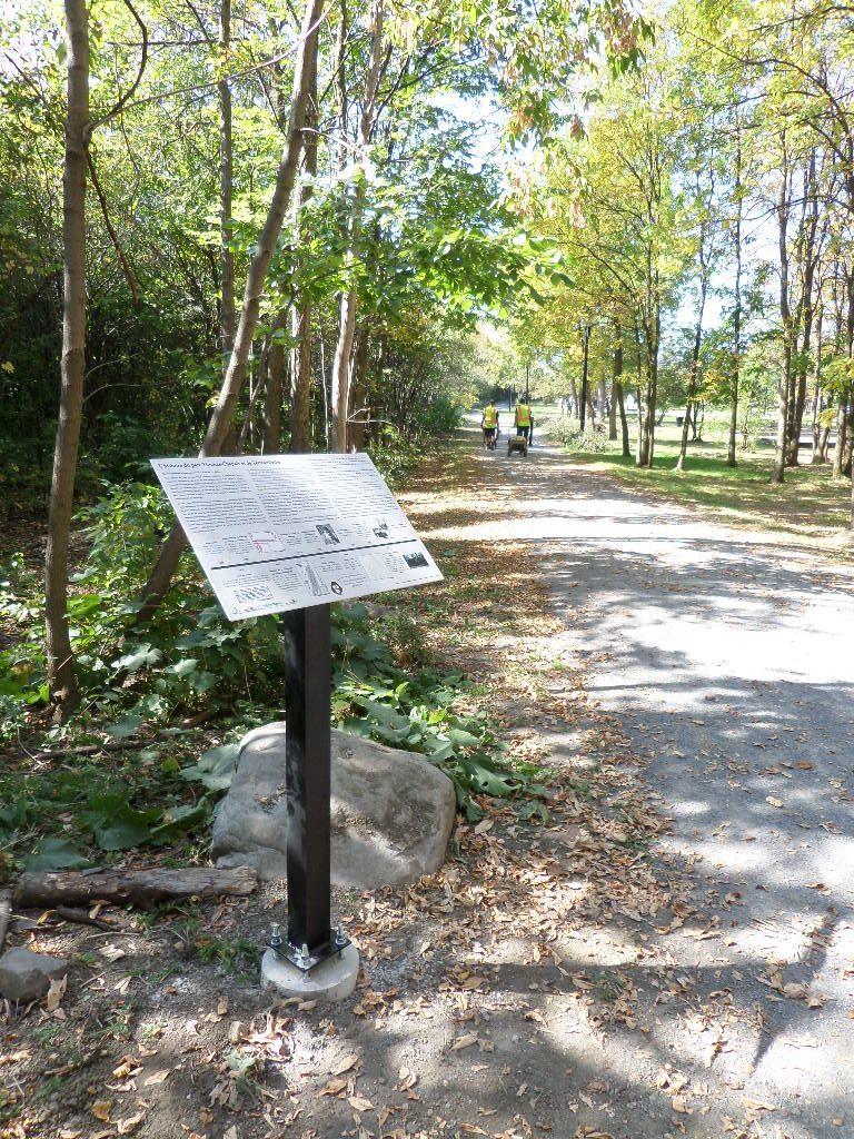 Nouveaux panneaux d'interprétation au parc Thomas-Chapais