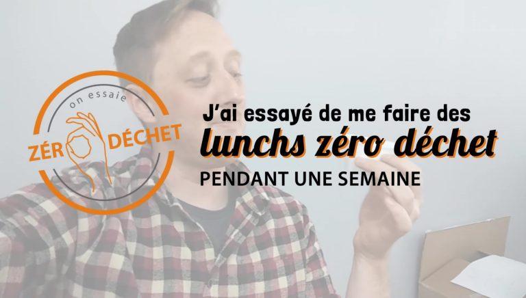 On essaie zéro déchet - lunchs zéro déchet