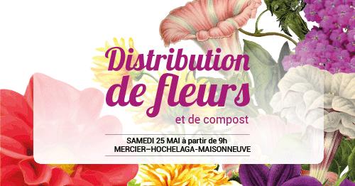 Distribution de fleurs et de compost 2019