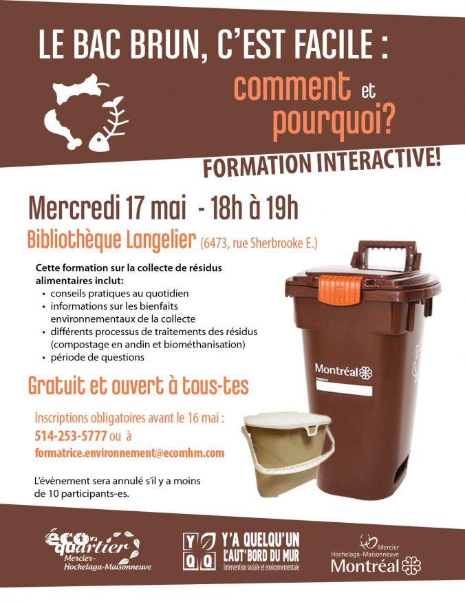 Affiche de promotion pour l'activité de formation sur la collecte des résidus alimentaires