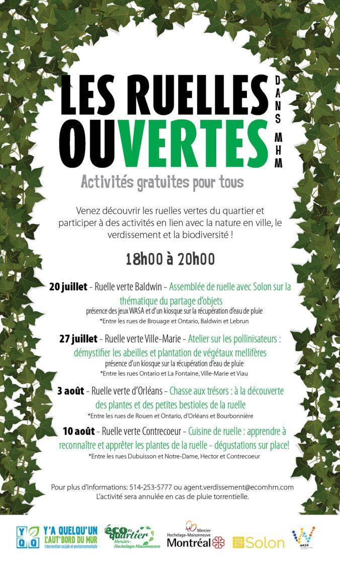 Affiche promotionnelle des Ruelles Ouvertes 2017