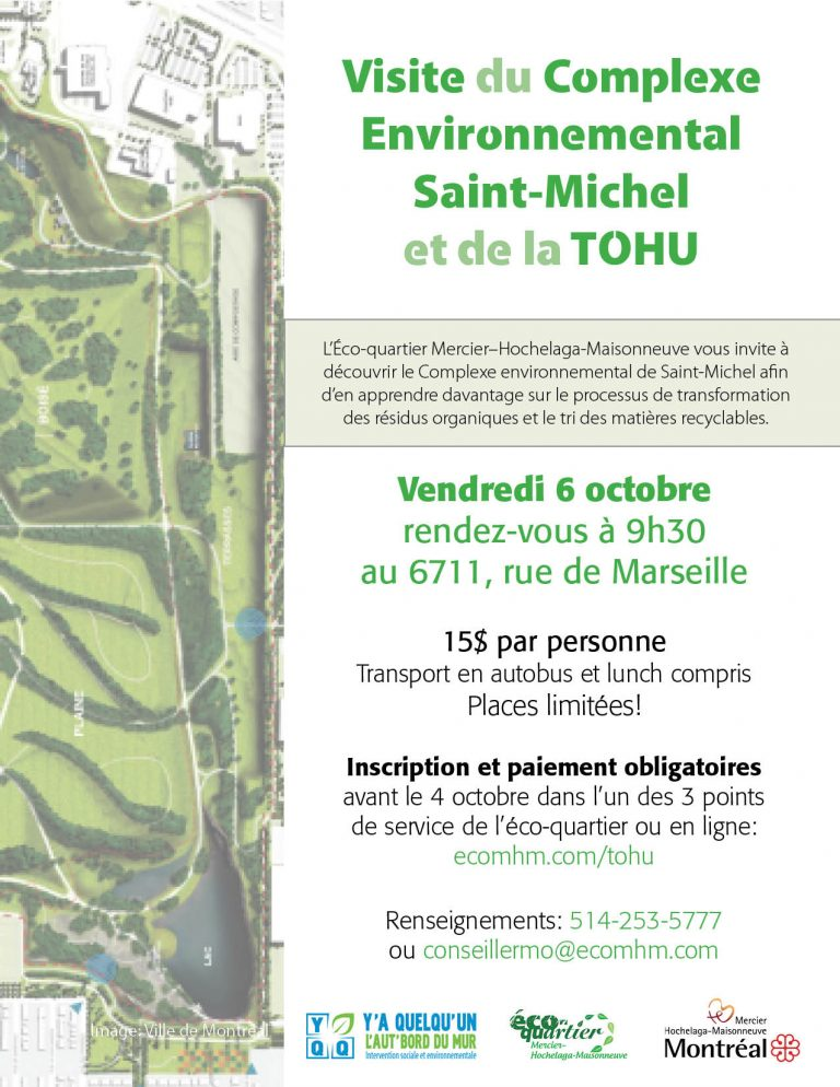 Affiche promotionnelle de la visite du CESM et de la TOHU 2017