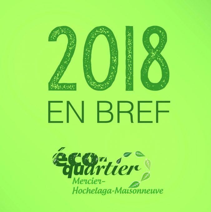 Bilan de l'année 2018 de l'éco-quartier MHM